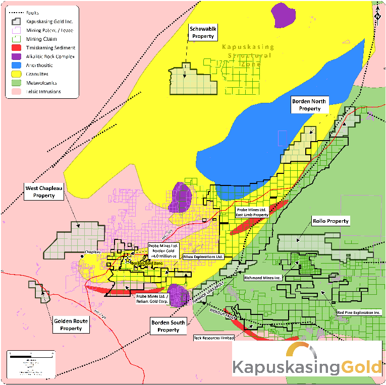 Kapuskasing Gold Corp